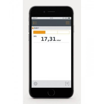testo 510 i - differential pressure measuring instrument with smartphone operation