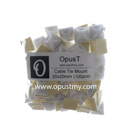 OpusT Cable Tie Mount 20x20mm (100pcs)
