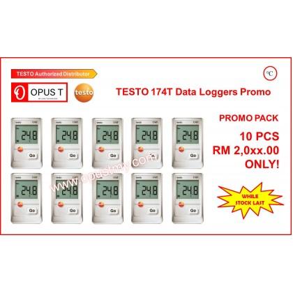 testo 174 T Pack of 10 - Mini temperature data logger