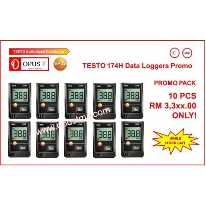 testo 174 H Pack of 10 - Temperature and humidity mini data logger