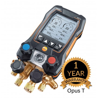 testo 557s Smart Vacuum Kit - Smart digital manifold with wireless vacuum and clamp temperature probes