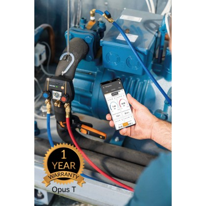 testo 550i Smart Kit - App-controlled digital manifold with wireless clamp temperature probes (NTC)