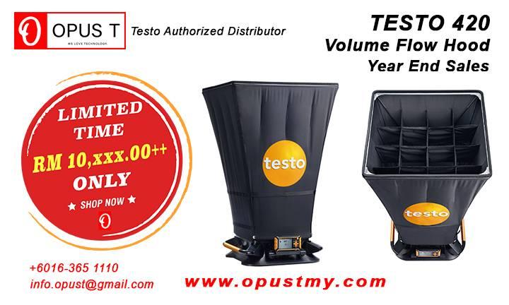 Testo 420 Volume Flow Hood Year End Sales OpusT